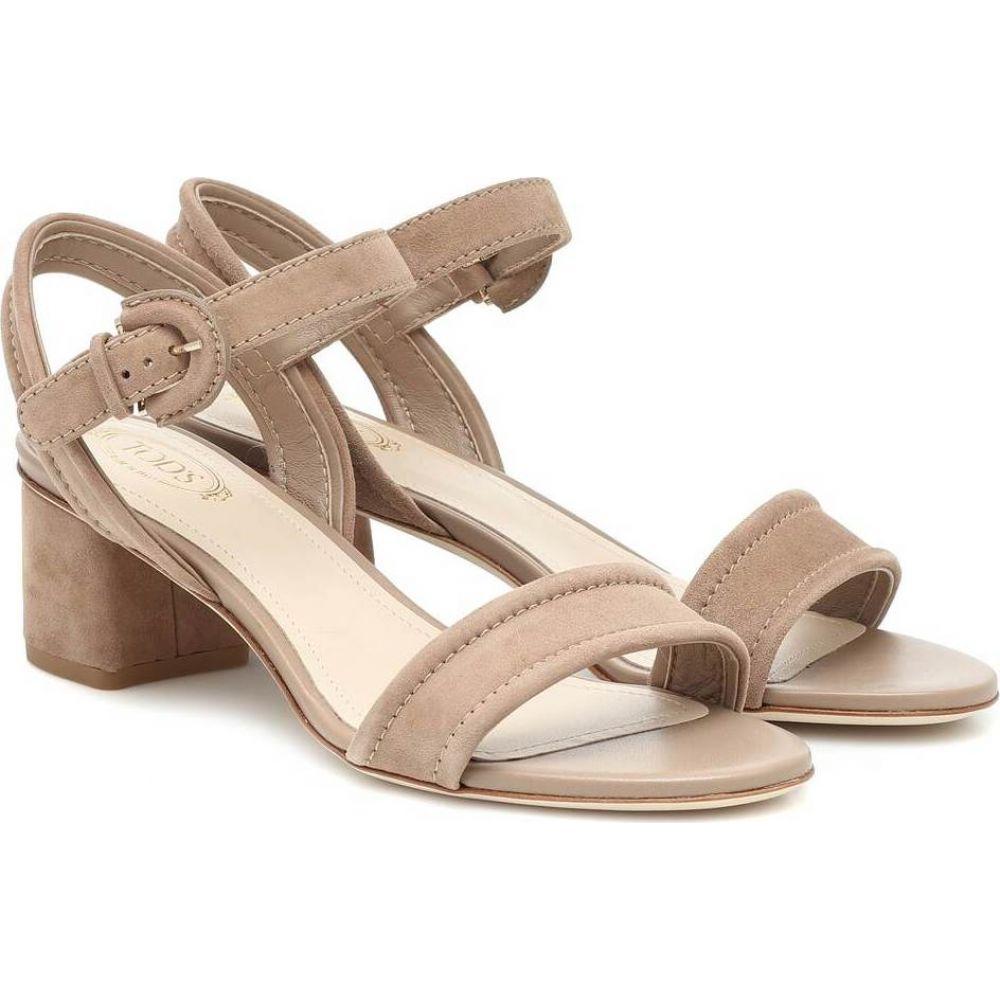 トッズ Tod's レディース サンダル・ミュール シューズ・靴【Suede sandals】Cappucino