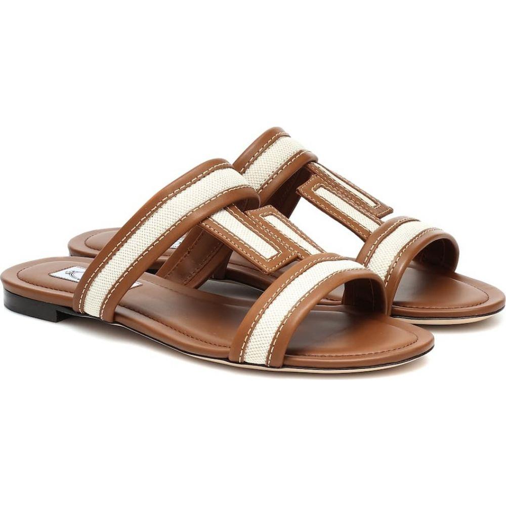 トッズ Tod's レディース サンダル・ミュール シューズ・靴【Leather sandals】Beige/White