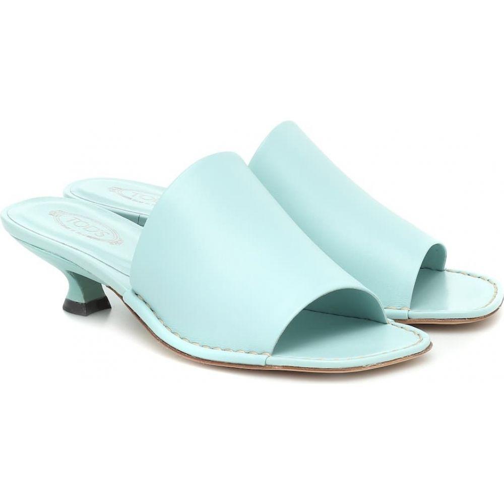トッズ Tod's レディース サンダル・ミュール シューズ・靴【Leather sandals】Blue