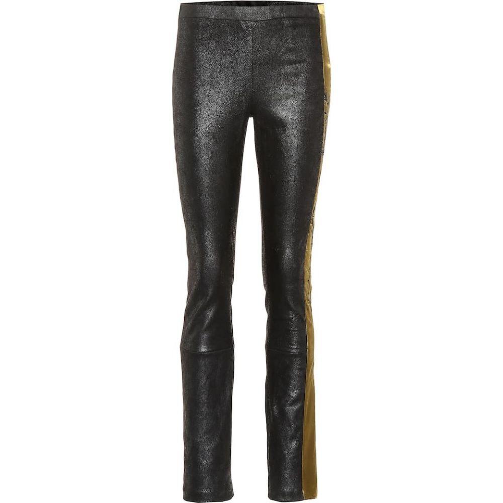 ハイダー アッカーマン Haider Ackermann レディース ボトムス・パンツ レザーレギンス【Embroidered leather leggings】