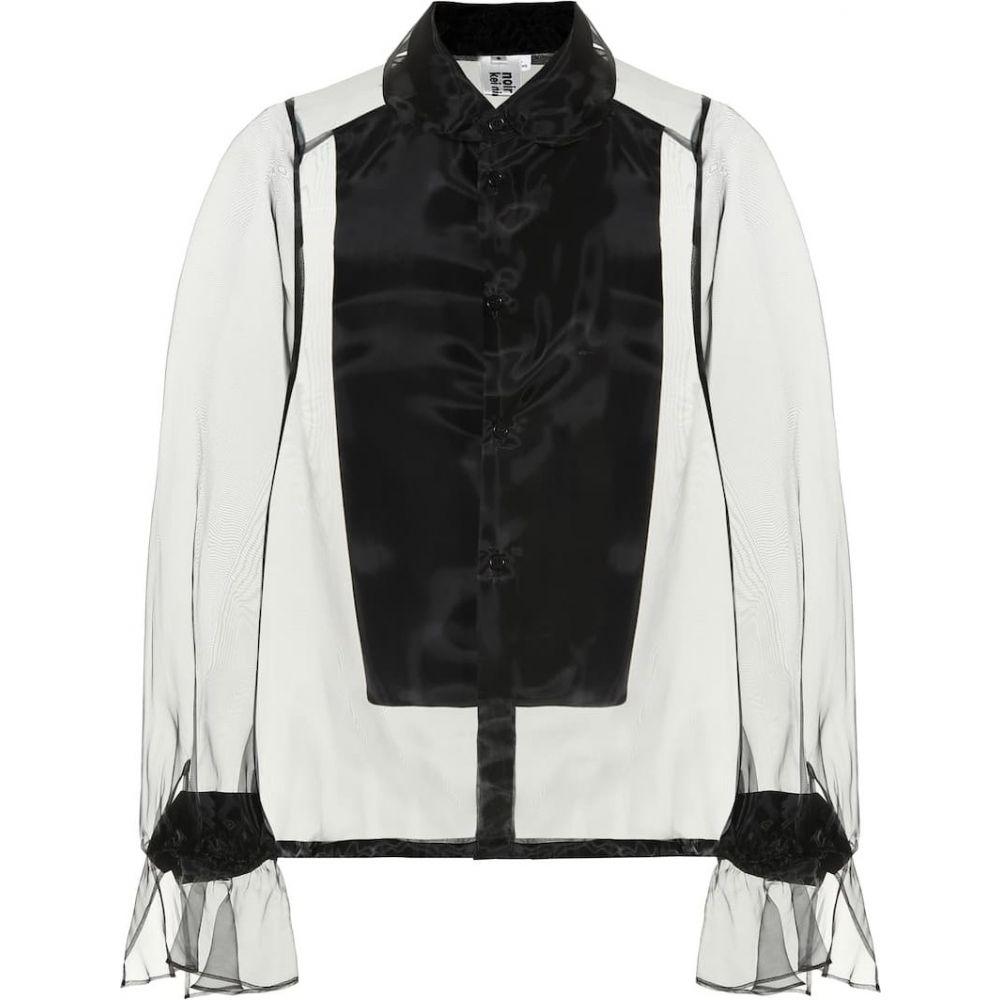 ノワール ケイ ニノミヤ Noir Kei Ninomiya レディース ブラウス・シャツ トップス【Organza blouse】Black