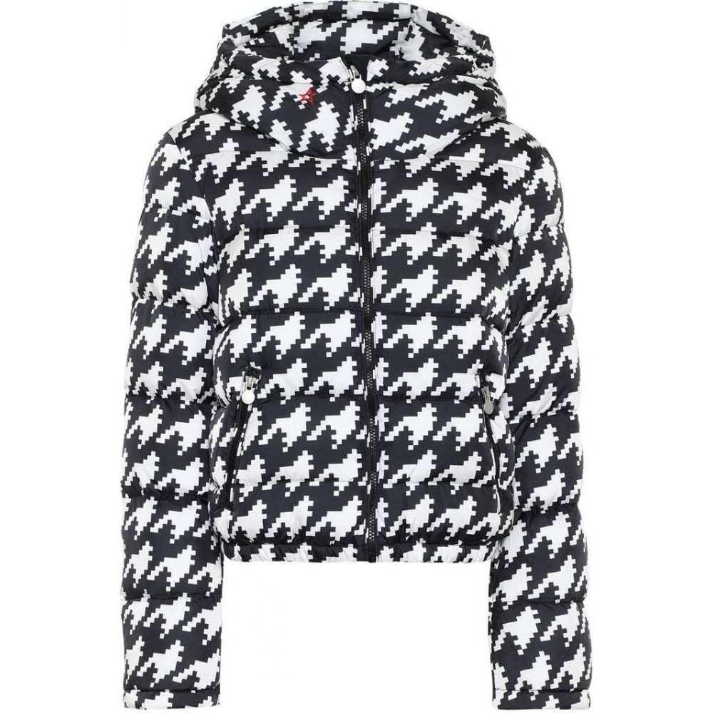 パーフェクト モーメント Perfect Moment レディース ダウン・中綿ジャケット アウター【Polar Flare printed down jacket】Black/Snow White Hounstooth