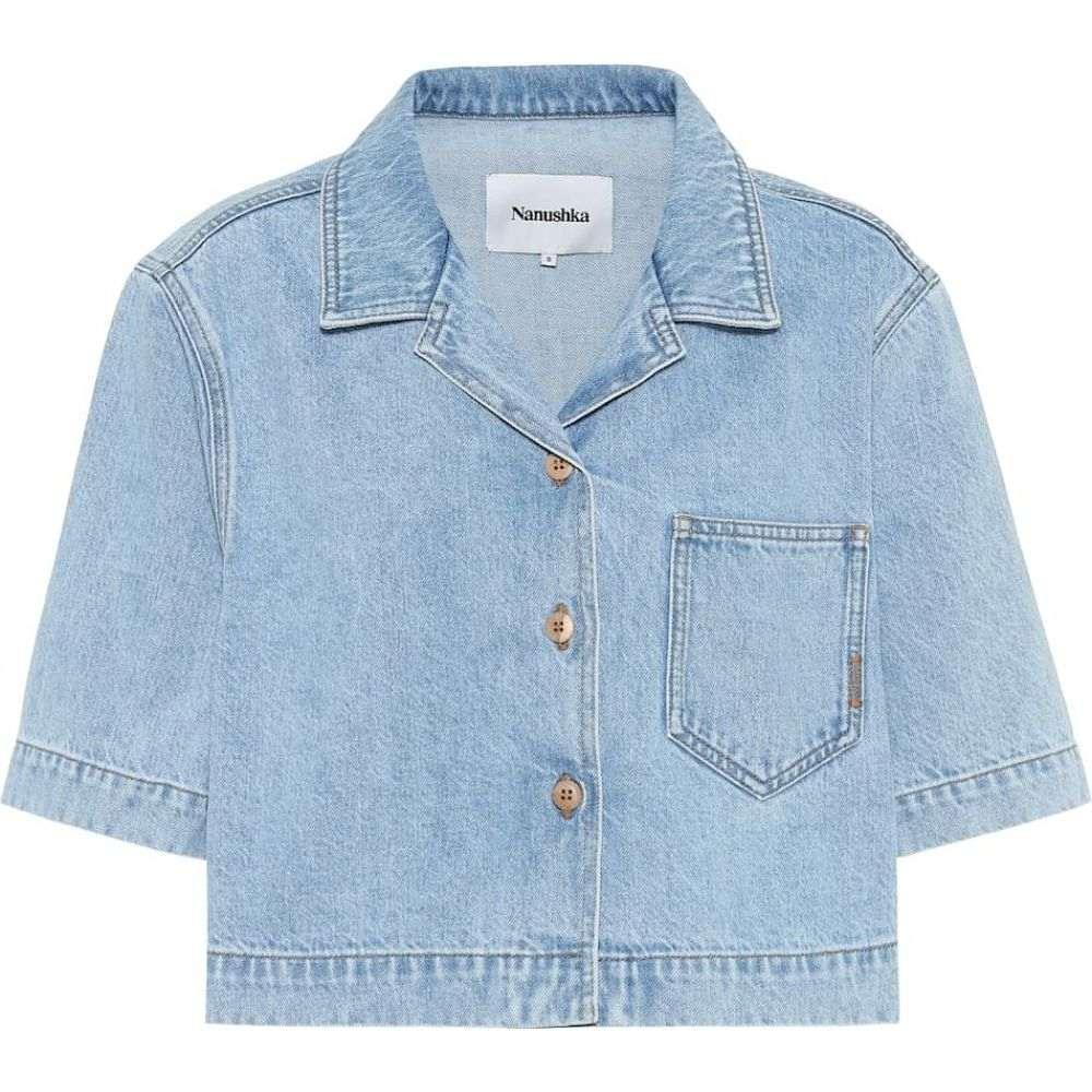 ナヌシュカ Nanushka レディース ブラウス・シャツ デニム トップス【Denim shirt】Blue Wash