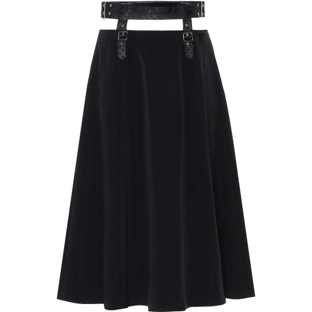 ノワール ケイ ニノミヤ Noir Kei Ninomiya レディース ひざ丈スカート スカート【Satin midi skirt】Black