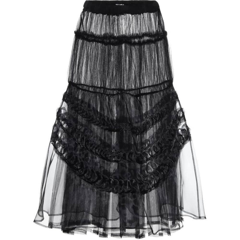 ノワール ケイ ニノミヤ Noir Kei Ninomiya レディース ロング・マキシ丈スカート スカート【Tulle maxi skirt】Black