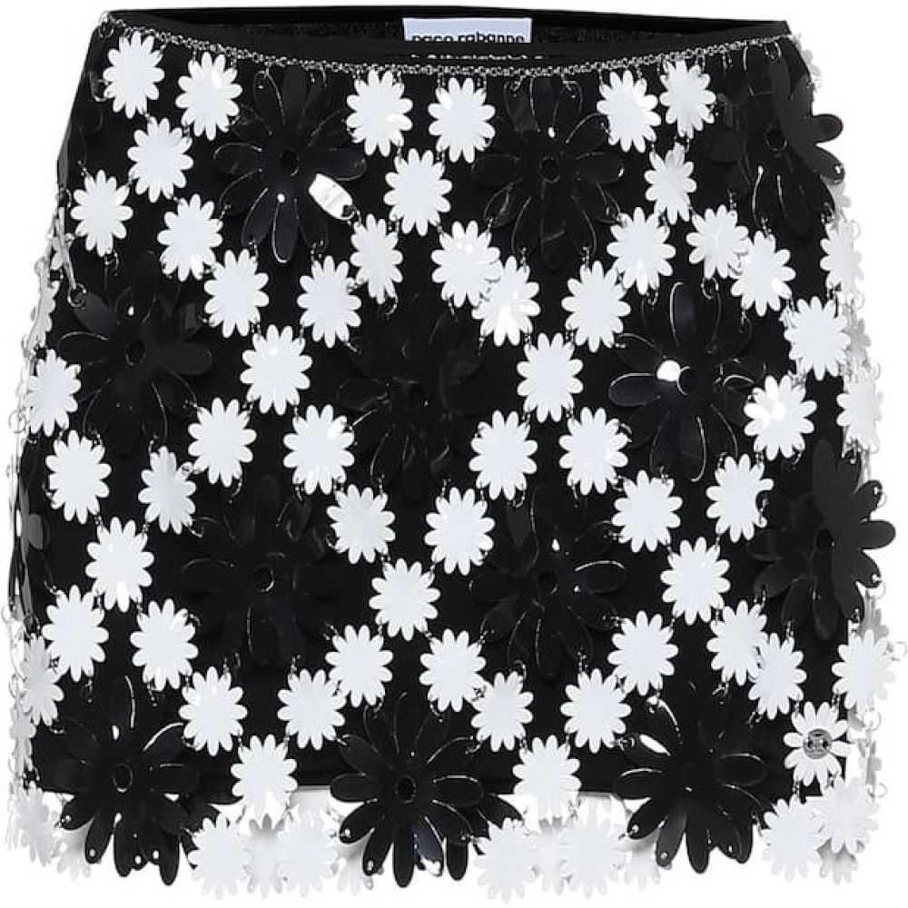 パコラバンヌ Paco Rabanne レディース ミニスカート スカート【Embellished miniskirt】Black/White