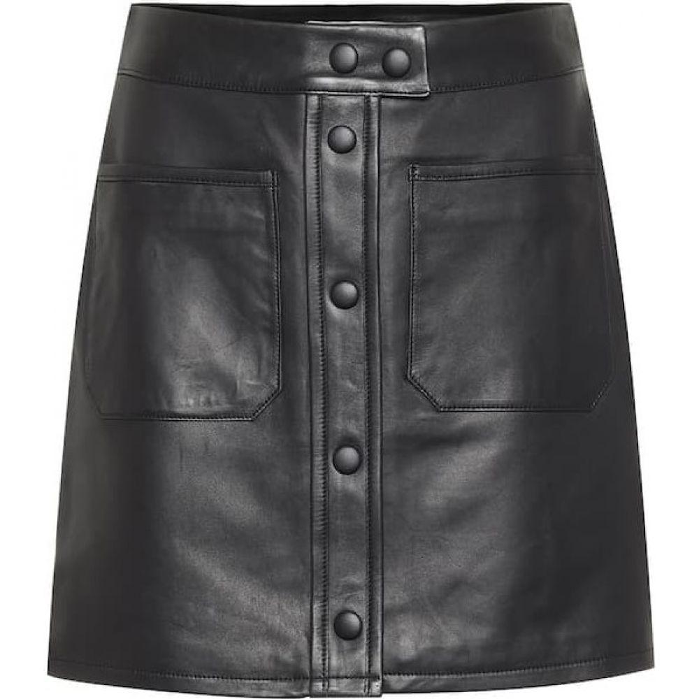 フレーム Frame レディース ミニスカート スカート【Patch Pocket leather miniskirt】Noir