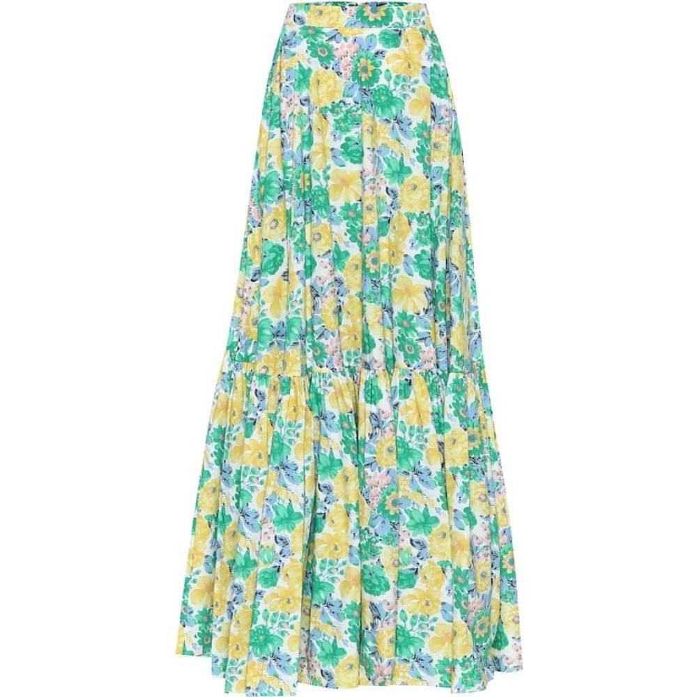 プラン C Plan C レディース ロング・マキシ丈スカート スカート【Floral cotton maxi skirt】Blue Flower