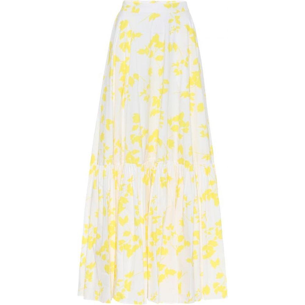 プラン C Plan C レディース ロング・マキシ丈スカート スカート【Floral cotton maxi skirt】Yellow Flower
