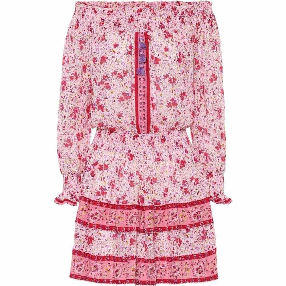 プーペット セント バース Poupette St Barth レディース ワンピース ミニ丈 ワンピース・ドレス【Sylvia floral mini dress】Pink Watercolor