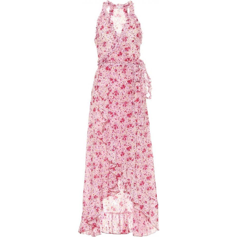 プーペット セント バース Poupette St Barth レディース ワンピース ミドル丈 ワンピース・ドレス【Tamara floral cotton midi dress】Pink Watercolor