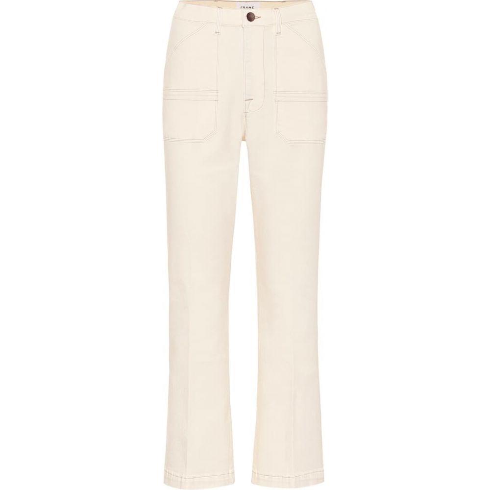 フレーム Frame レディース ジーンズ・デニム ボトムス・パンツ【Carpenter high-rise flared jeans】Off White