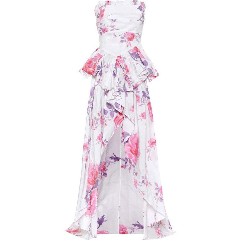 フィロソフィ ディ ロレンツォ セラフィニ Philosophy Di Lorenzo Serafini レディース パーティードレス ワンピース・ドレス【Floral gown】FANTASY PRINT WHITE