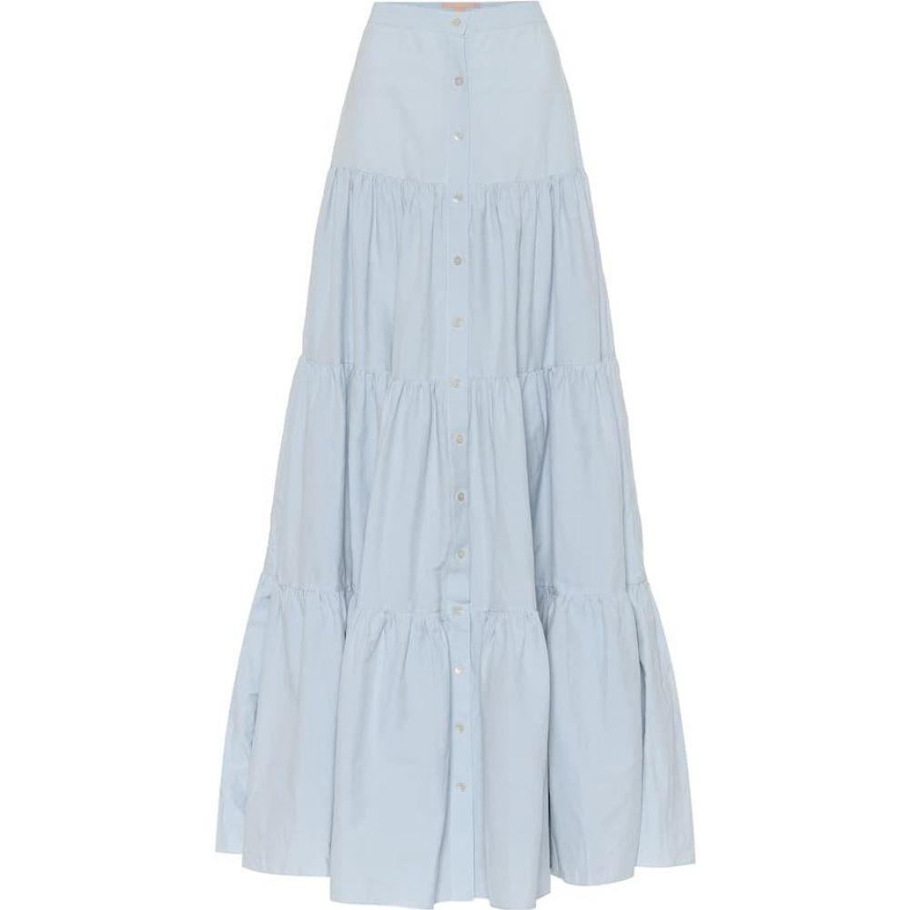 ブロック コレクション Brock Collection レディース ロング・マキシ丈スカート スカート【Cotton-blend maxi skirt】Light Blue
