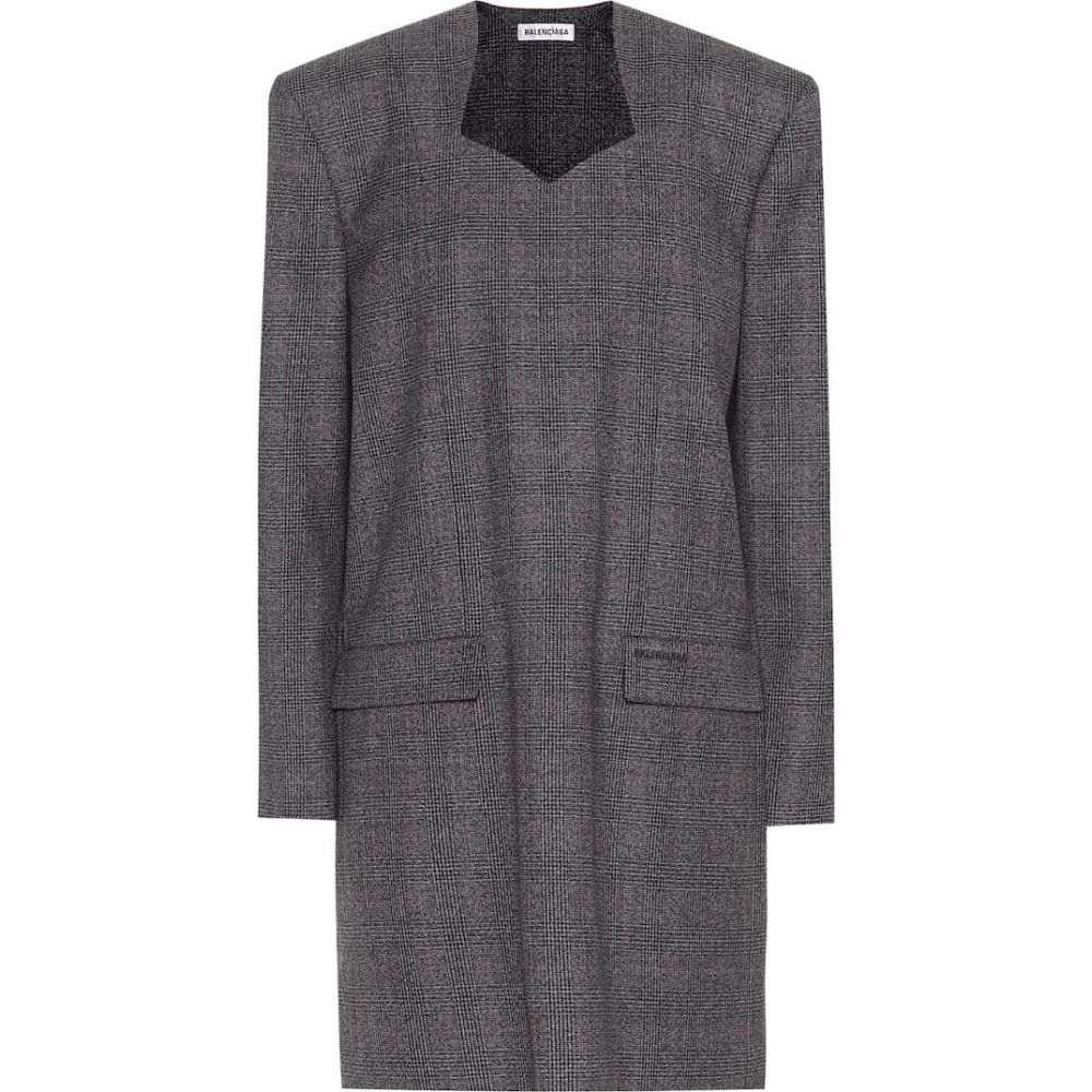 バレンシアガ Balenciaga レディース ワンピース ワンピース・ドレス【Wool minidress】Anthracite