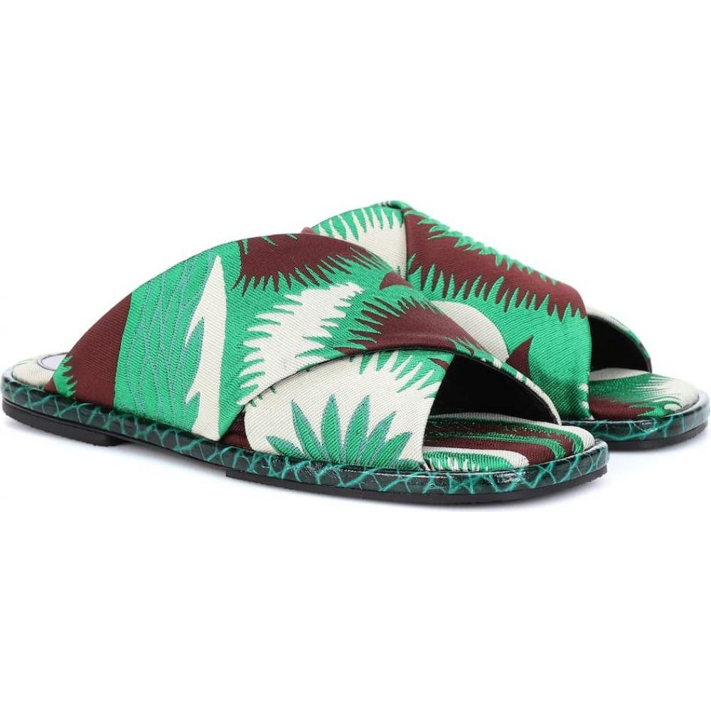 ドリス ヴァン ノッテン Dries Van Noten レディース サンダル・ミュール シューズ・靴【jacquard slide sandals】Green