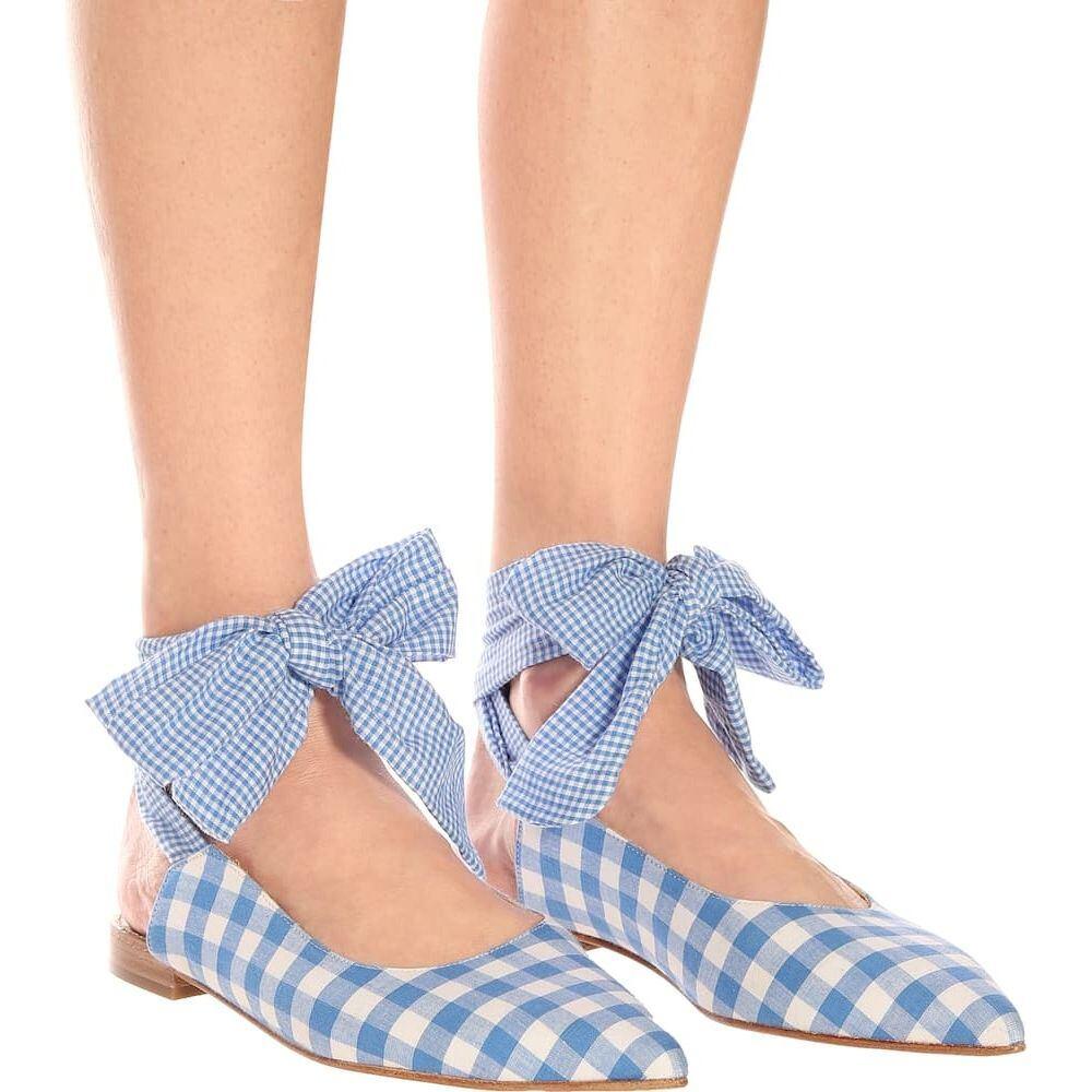 ドド バー オア Dodo Bar Or レディース スリッポン・フラット シューズ・靴 checked ballet flats BluedCExBoeWQr