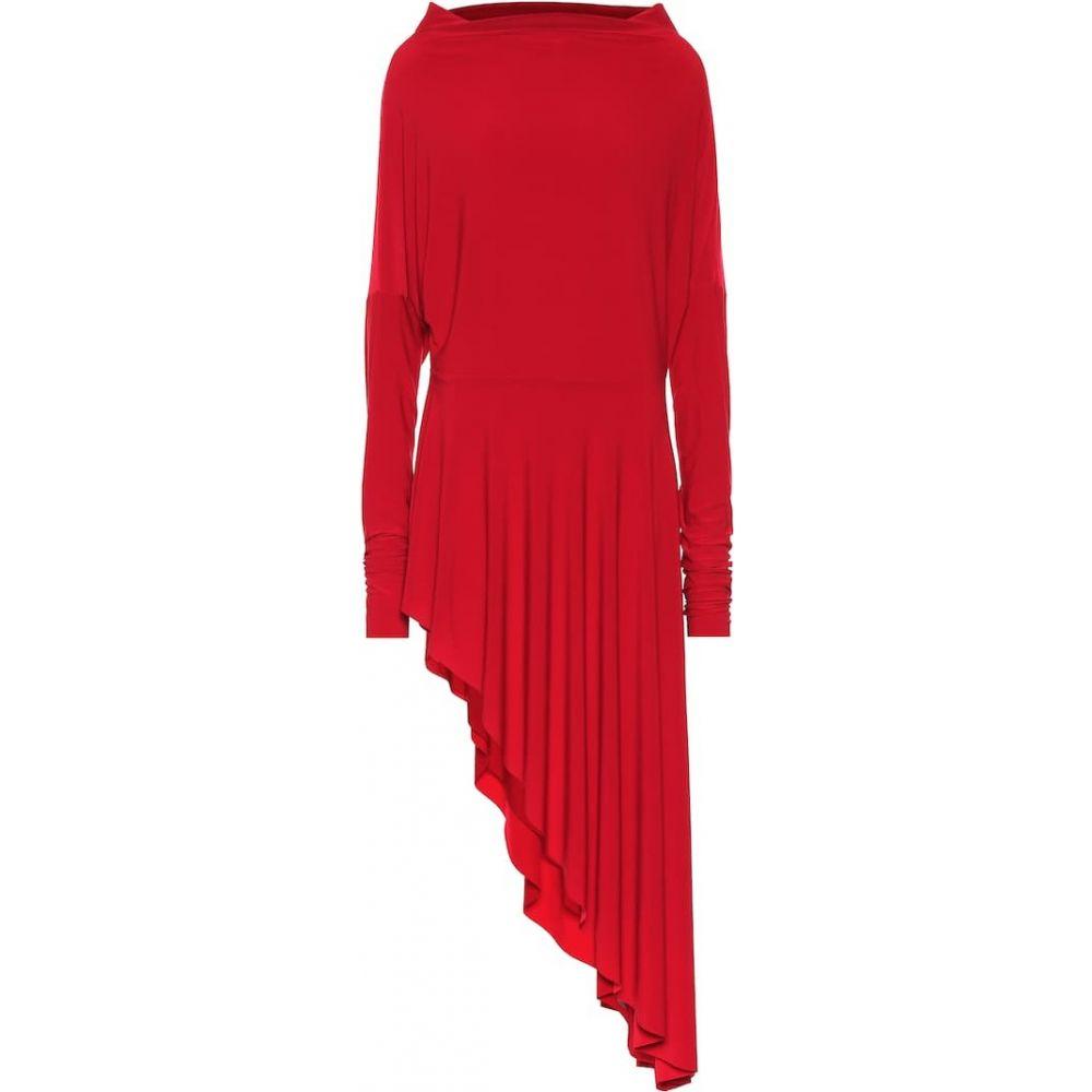 ノーマ カマリ Norma Kamali レディース ワンピース ワンピース・ドレス【asymmetric stretch-jersey dress】red