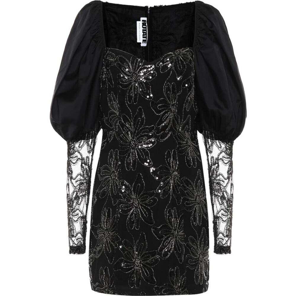 ローテート ROTATE BIRGER CHRISTENSEN レディース ワンピース ワンピース・ドレス【sequined minidress】Black