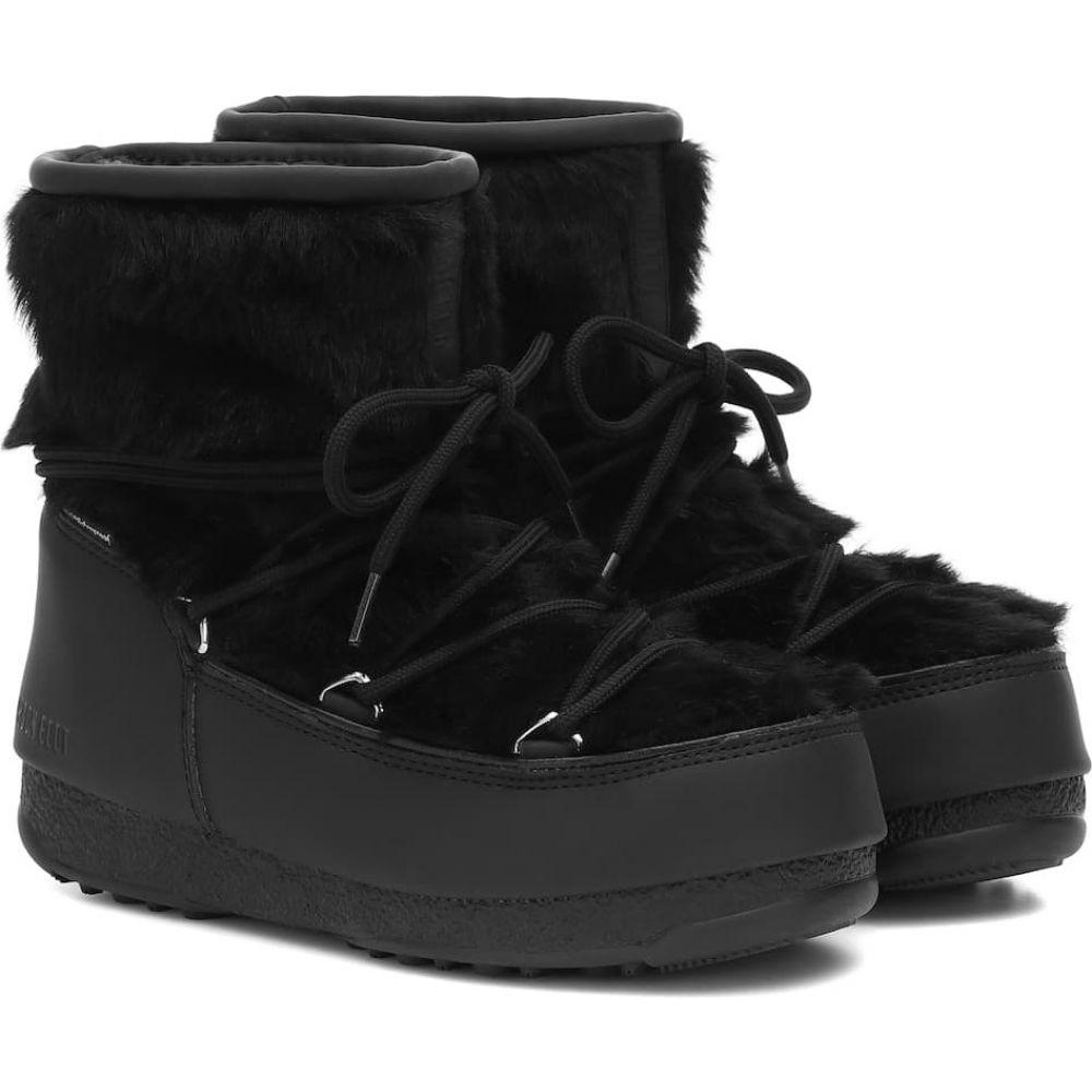 ムーンブーツ Moon Boot レディース ブーツ スノーブーツ シューズ・靴【monaco low wp 2 fur snow boots】Black