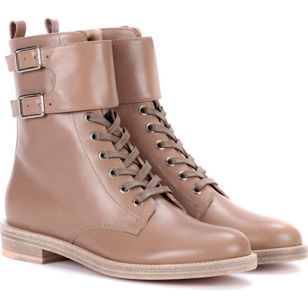 ジャンヴィト ロッシ Gianvito Rossi レディース ブーツ コンバットブーツ シューズ・靴【lagarde leather combat boots】Bisque