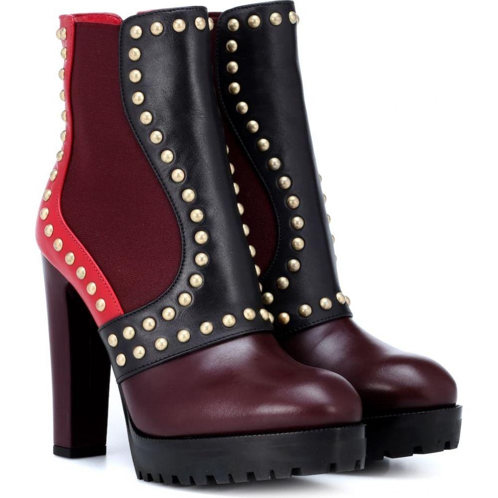 アレキサンダー マックイーン Alexander McQueen レディース ブーツ ショートブーツ シューズ・靴【embellished leather ankle boots】Multicolor