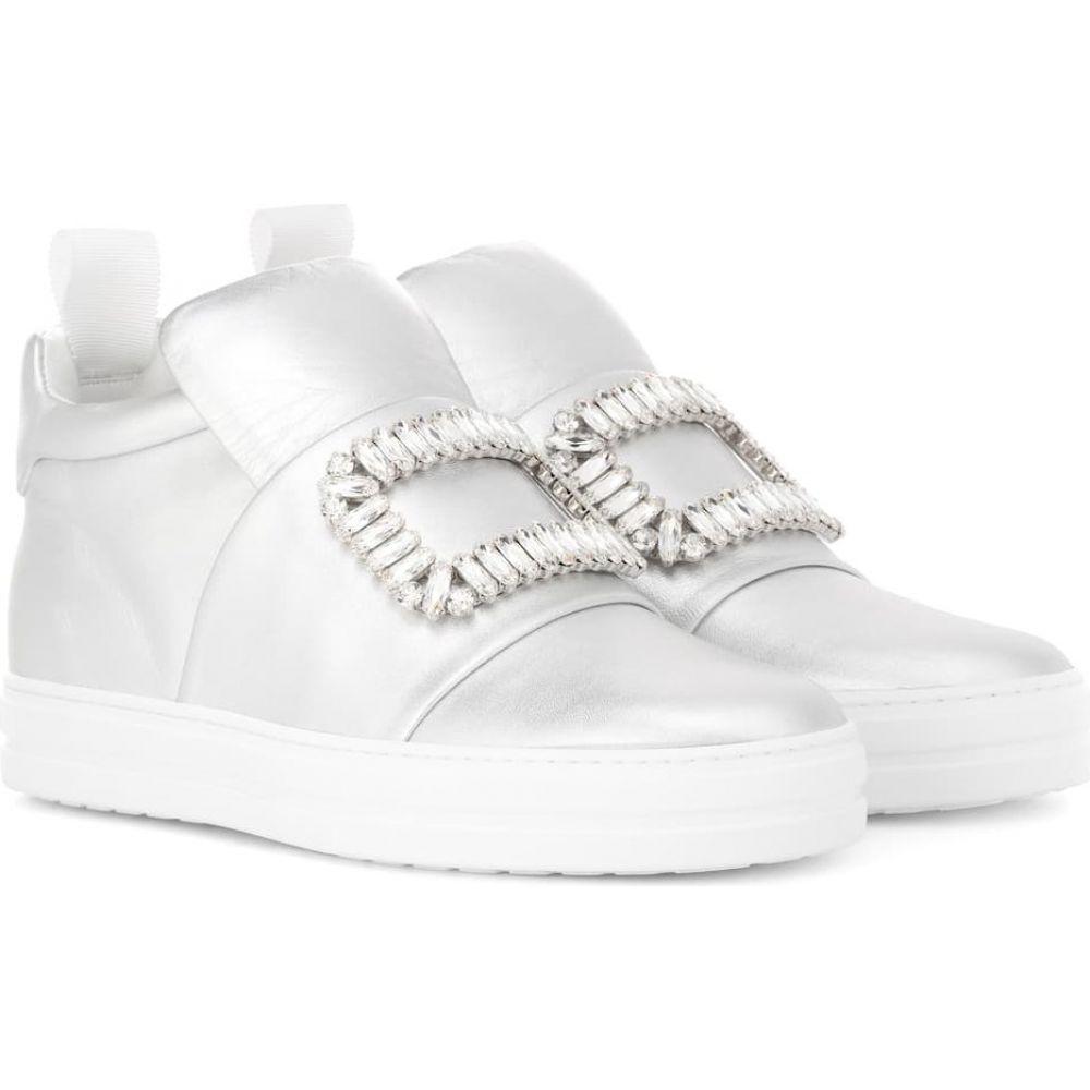 ロジェ ヴィヴィエ Roger Vivier レディース スニーカー シューズ・靴【sneaky viv' metallic leather sneakers】Silver