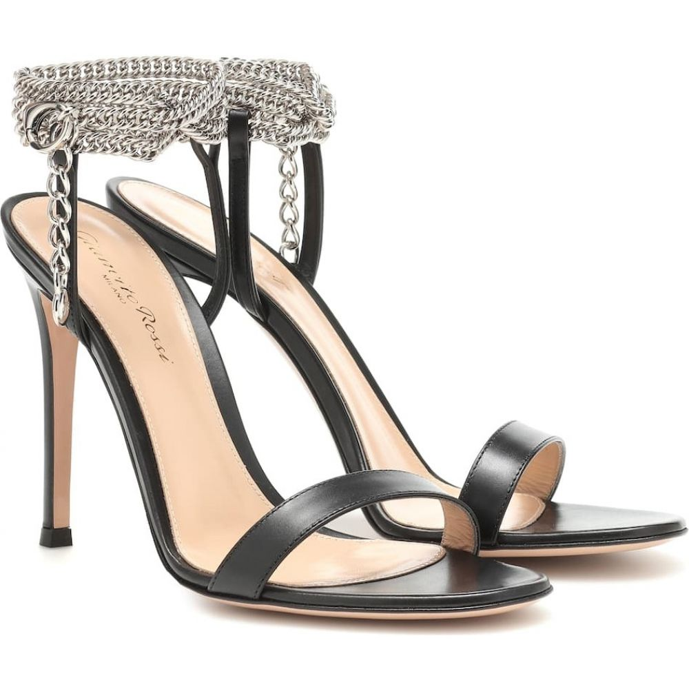 ジャンヴィト ロッシ Gianvito Rossi レディース サンダル・ミュール シューズ・靴【debbie embellished leather sandals】black