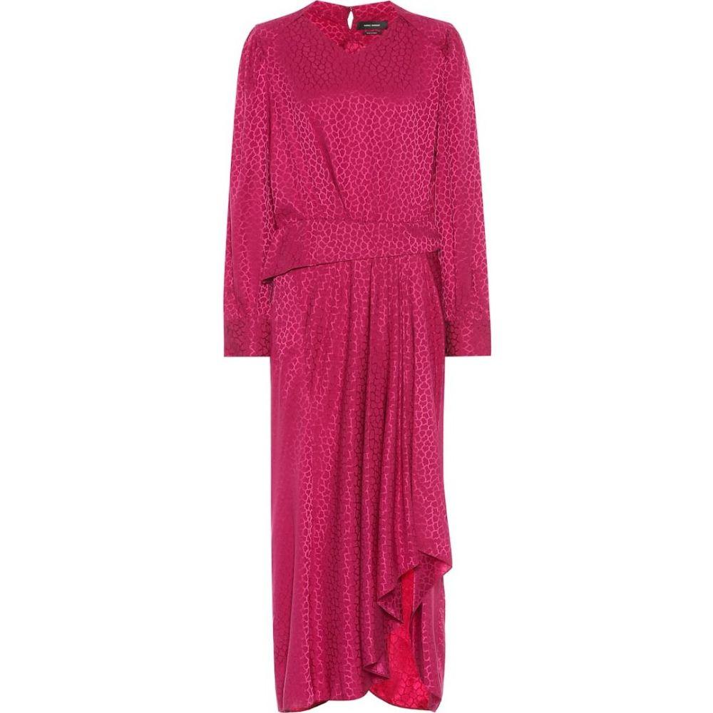 イザベル マラン Isabel Marant レディース ワンピース ワンピース・ドレス【romina stretch-silk dress】Fuchsia