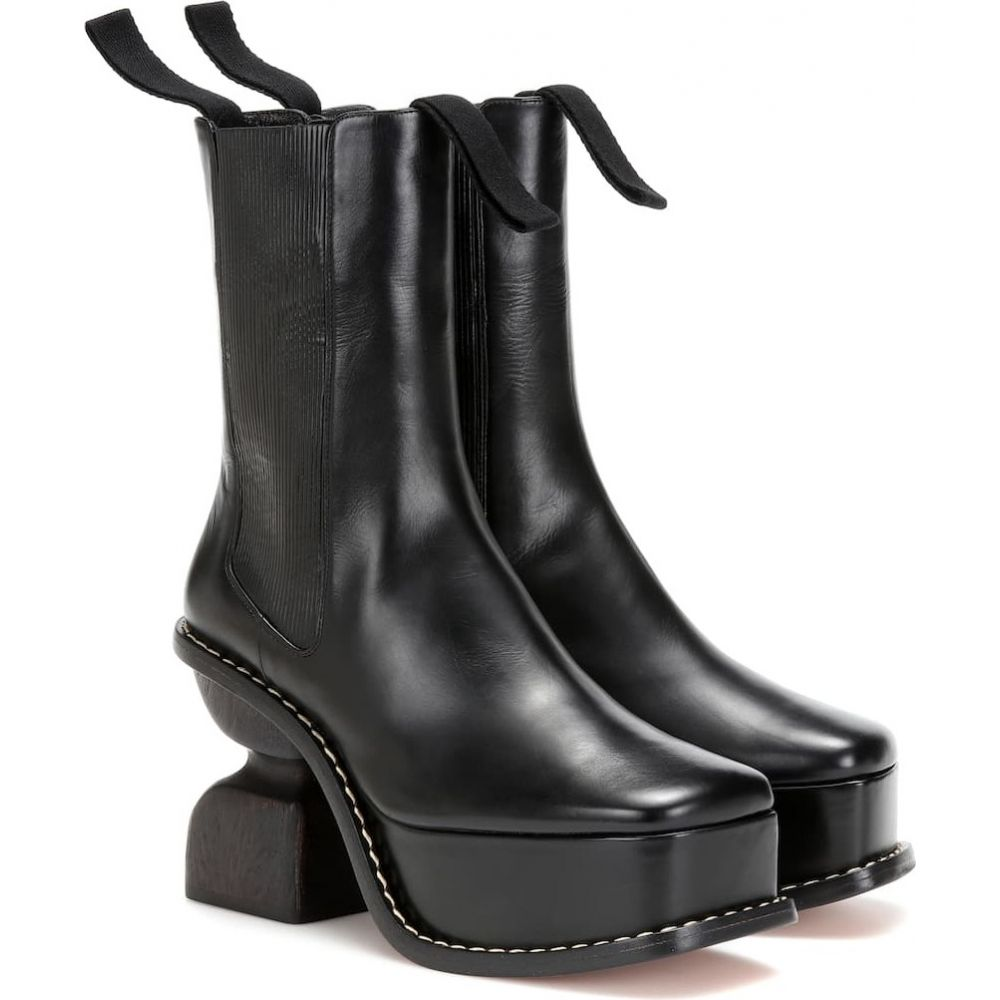 ロエベ Loewe レディース ブーツ ショートブーツ シューズ・靴【platform 100 leather ankle boots】Black