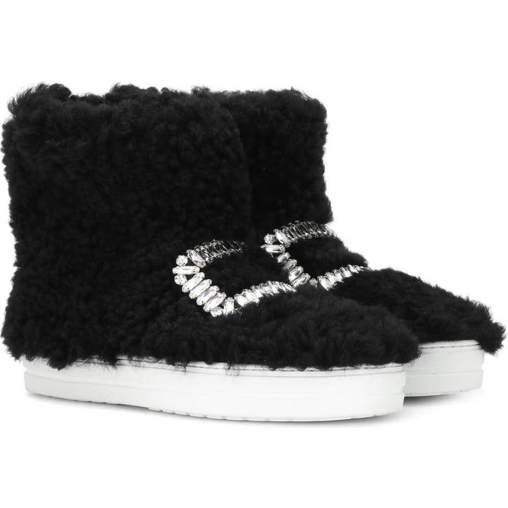 ロジェ ヴィヴィエ Roger Vivier レディース スニーカー シューズ・靴【sneaky viv' high-top fur sneakers】Black