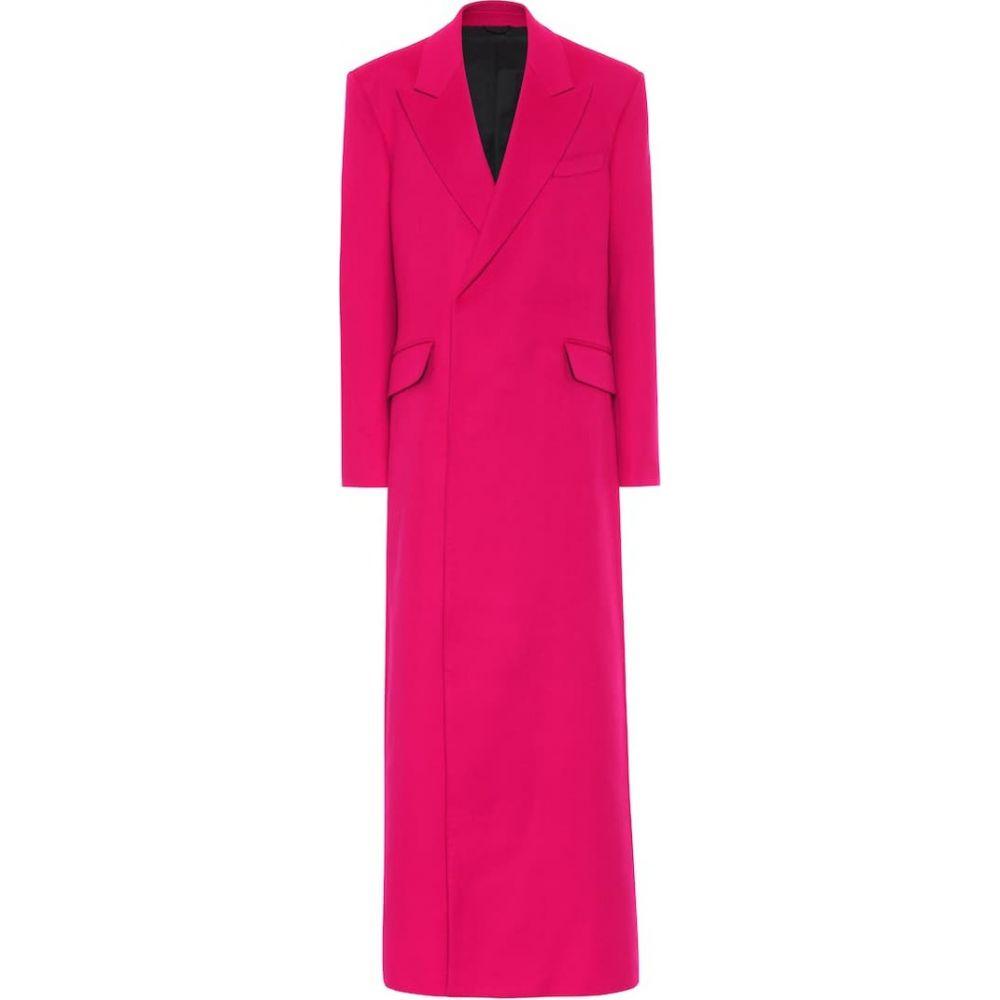 ラフ シモンズ Raf Simons レディース コート アウター【wool and cashmere coat】Fuchia