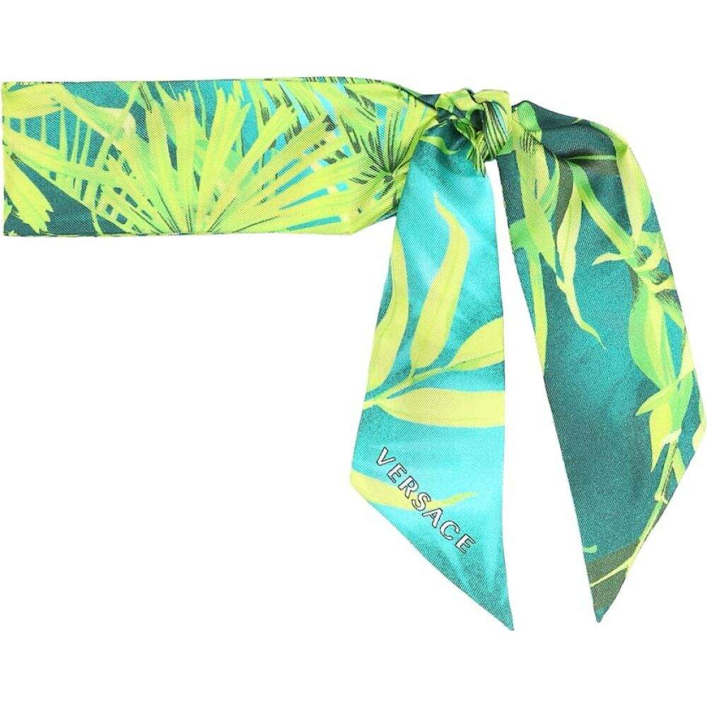 ヴェルサーチ Versace レディース マフラー・スカーフ・ストール 【printed silk scarf】Green