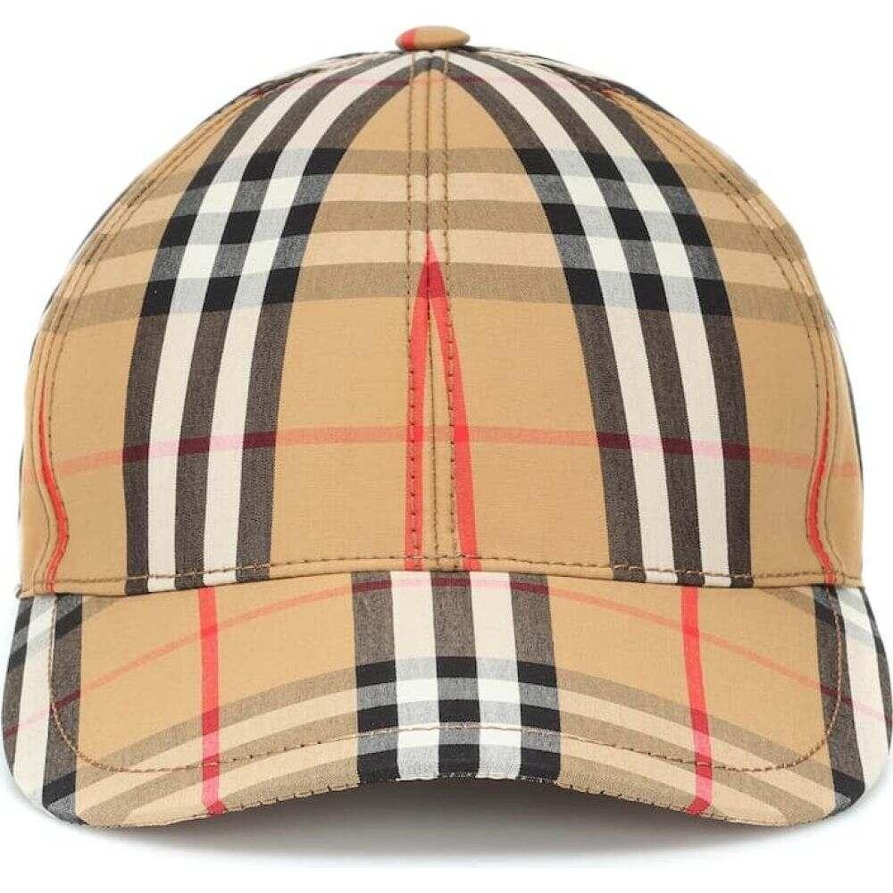 バーバリー Burberry レディース キャップ ベースボールキャップ 帽子【vintage check cotton baseball cap】Antrique Yellow