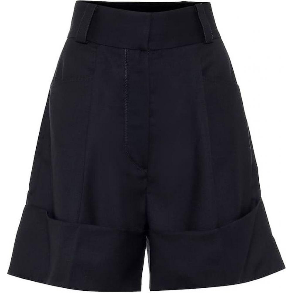 ロウ クラシック Low classic レディース ショートパンツ ボトムス・パンツ【high-rise wide-leg cotton shorts】Navy