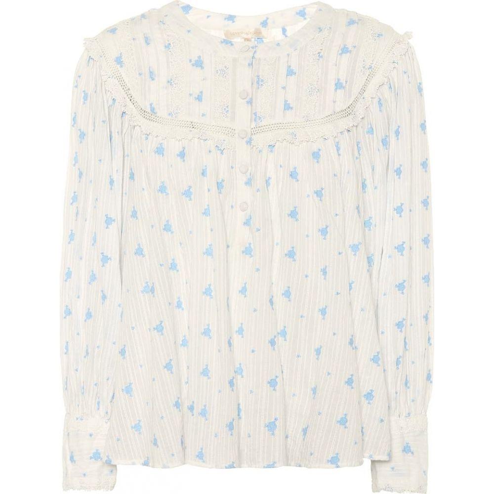 ラブシャックファンシー LoveShackFancy レディース ブラウス・シャツ トップス【dionne floral cotton blouse】Bubble Blue