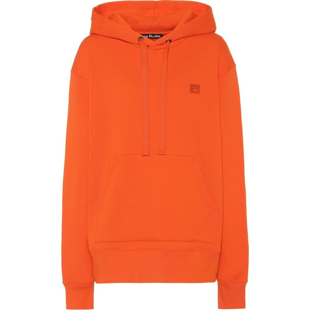 アクネ ストゥディオズ Acne Studios レディース パーカー トップス【ferris face cotton-jersey hoodie】Dark Orange