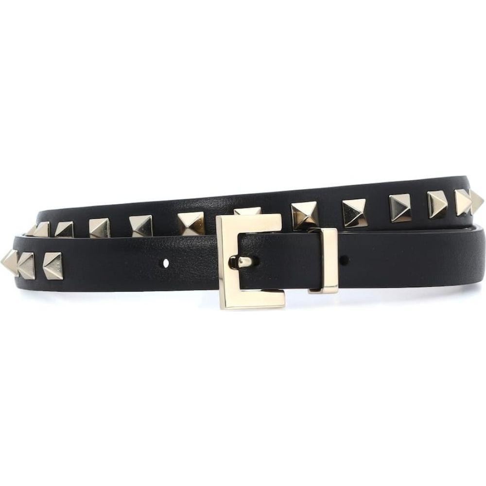 ヴァレンティノ Valentino レディース ベルト 【garavani rockstud leather belt】Nero