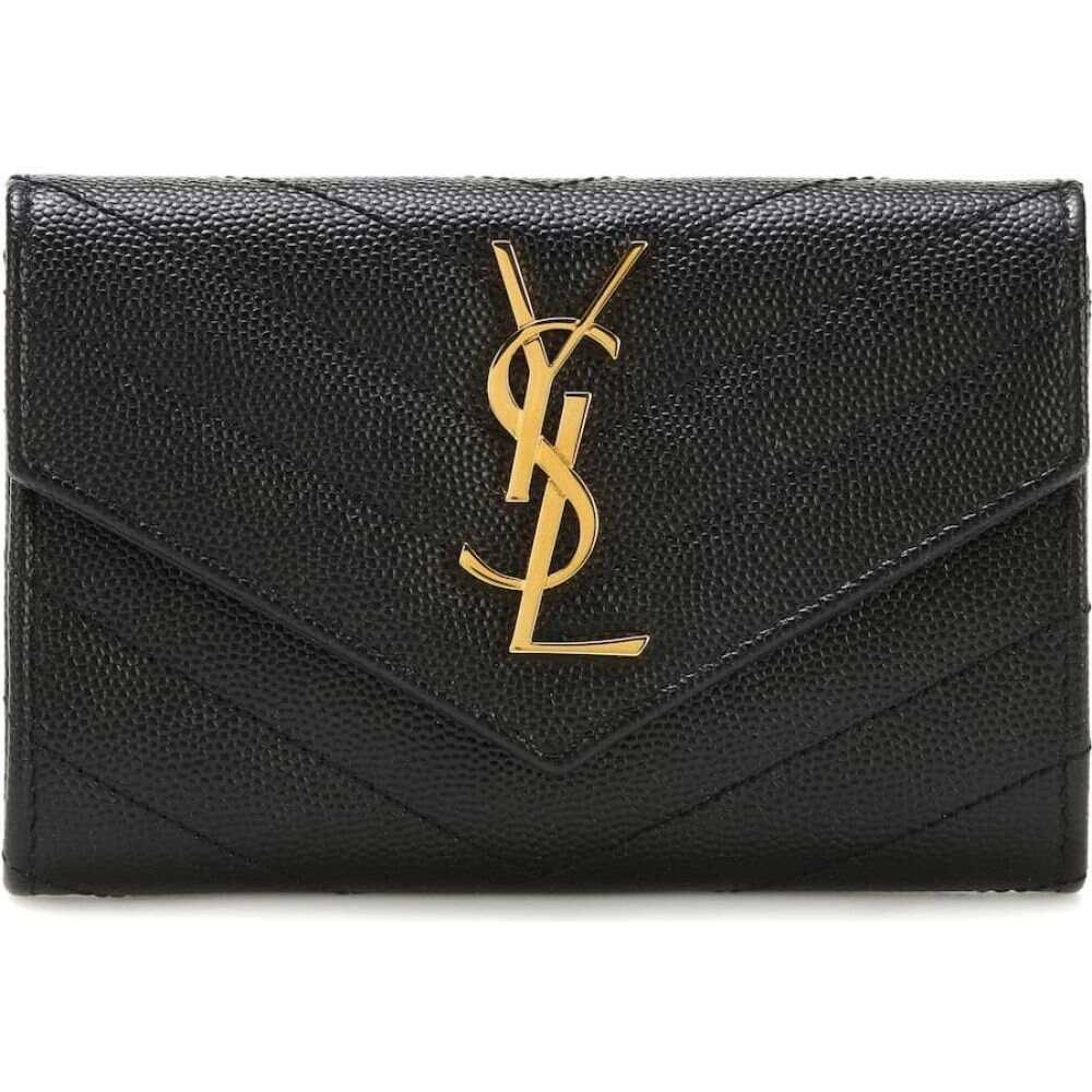 イヴ サンローラン Saint Laurent レディース 財布 【monogram small leather wallet】Nero
