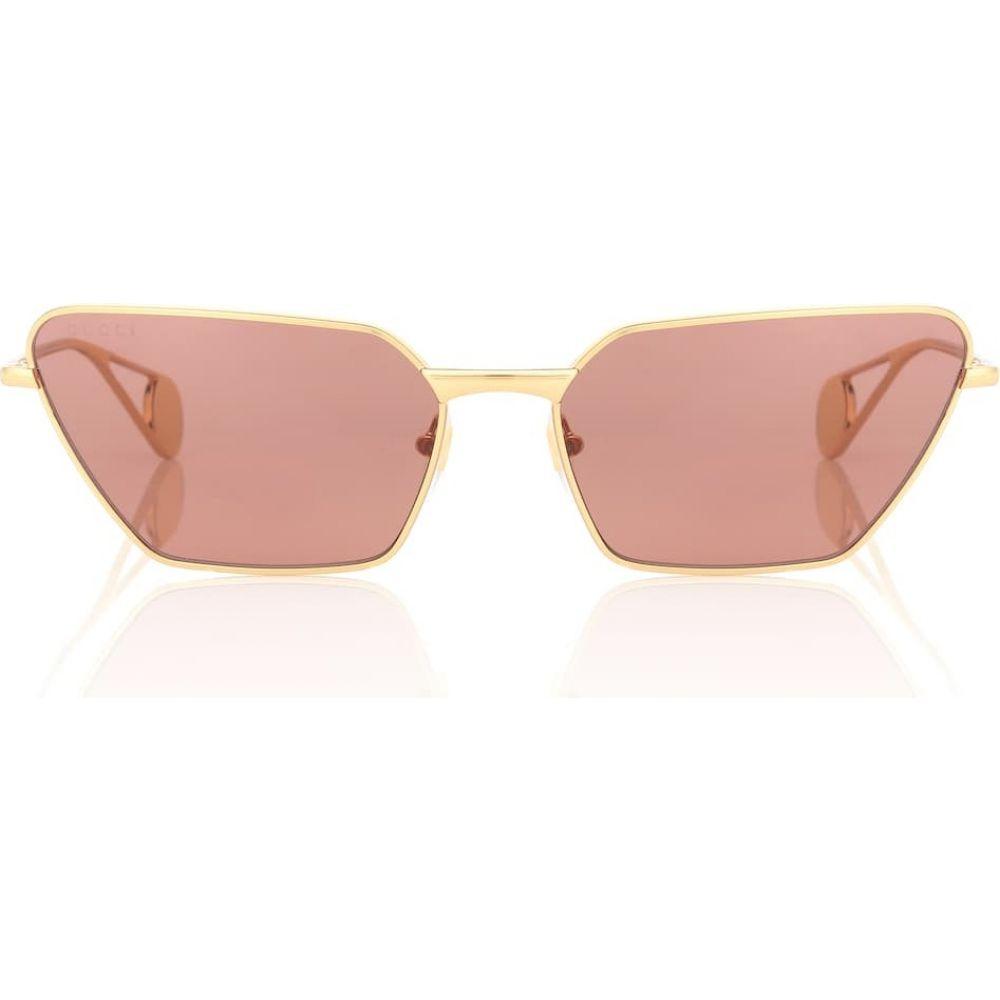 グッチ Gucci レディース メガネ・サングラス 【angular metal sunglasses】