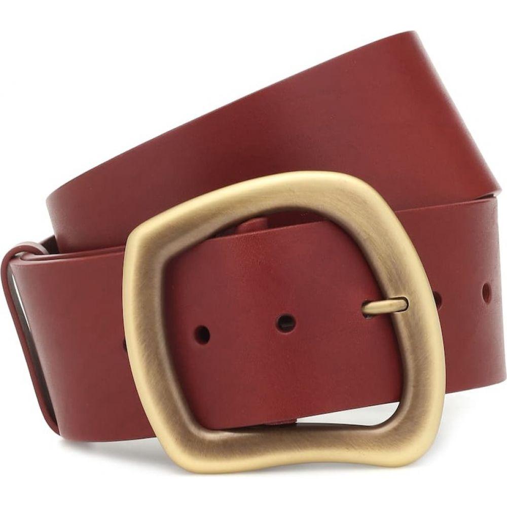 ガブリエラ ハースト Gabriela Hearst レディース ベルト 【simone leather belt】Burgandy
