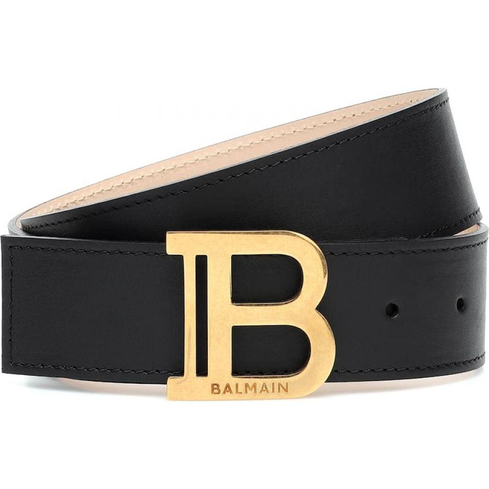 バルマン Balmain レディース ベルト 【b-belt leather belt】Noir