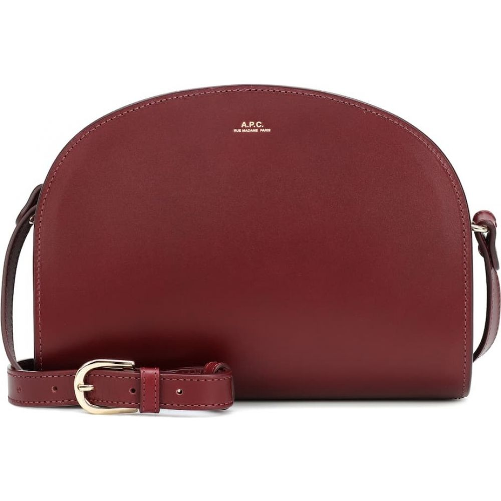 アーペーセー A.P.C. レディース ショルダーバッグ バッグ【demi-lune leather shoulder bag】Vino