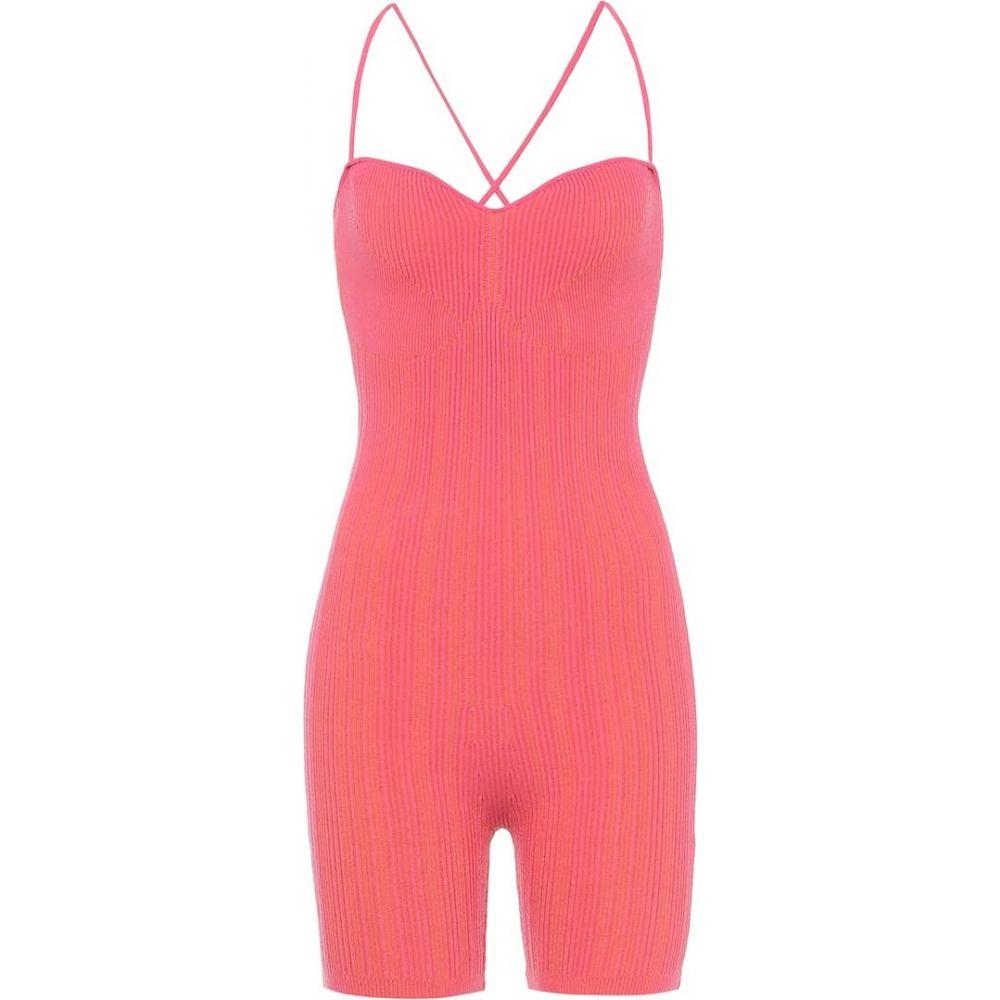 ジャックムス Jacquemus レディース ボディースーツ インナー・下着【le body arancia ribbed-knit bodysuit】Pink Striped