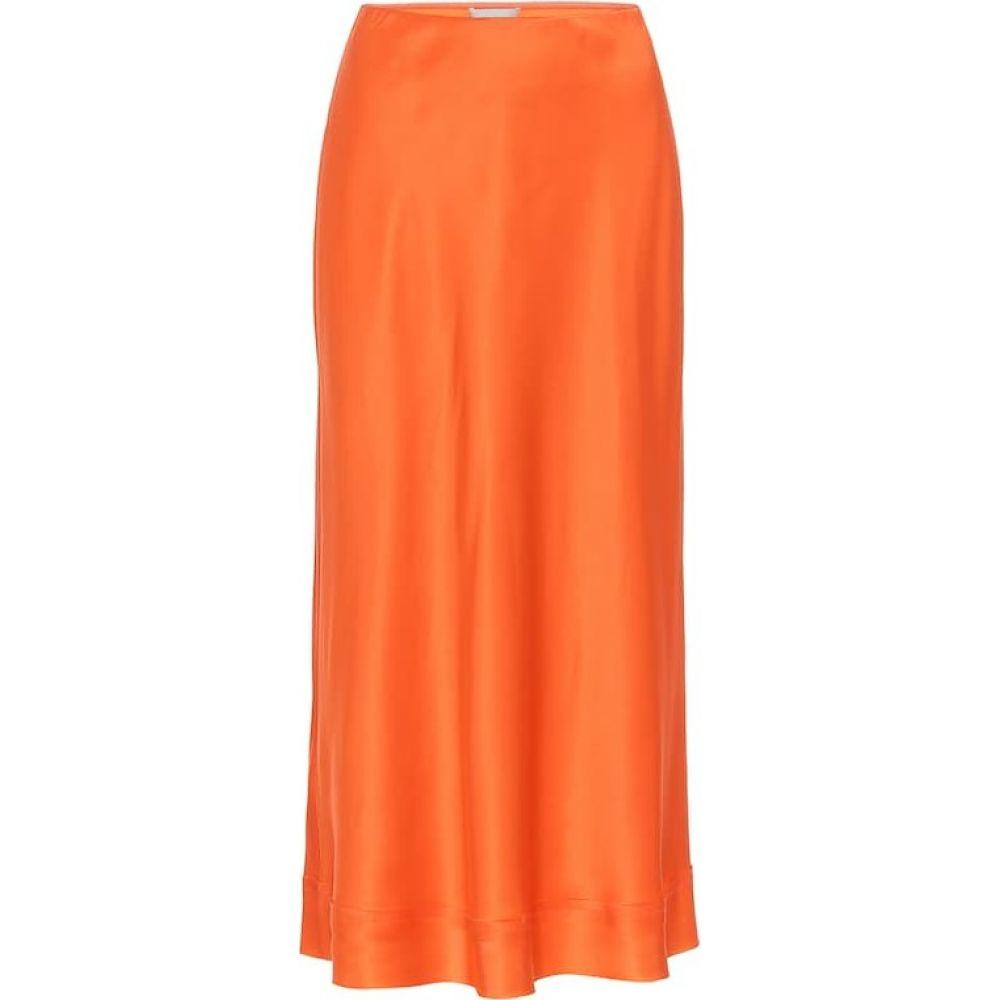 リーマシューズ Lee Mathews レディース ひざ丈スカート スリップスカート スカート【stella silk-satin slip skirt】Orange