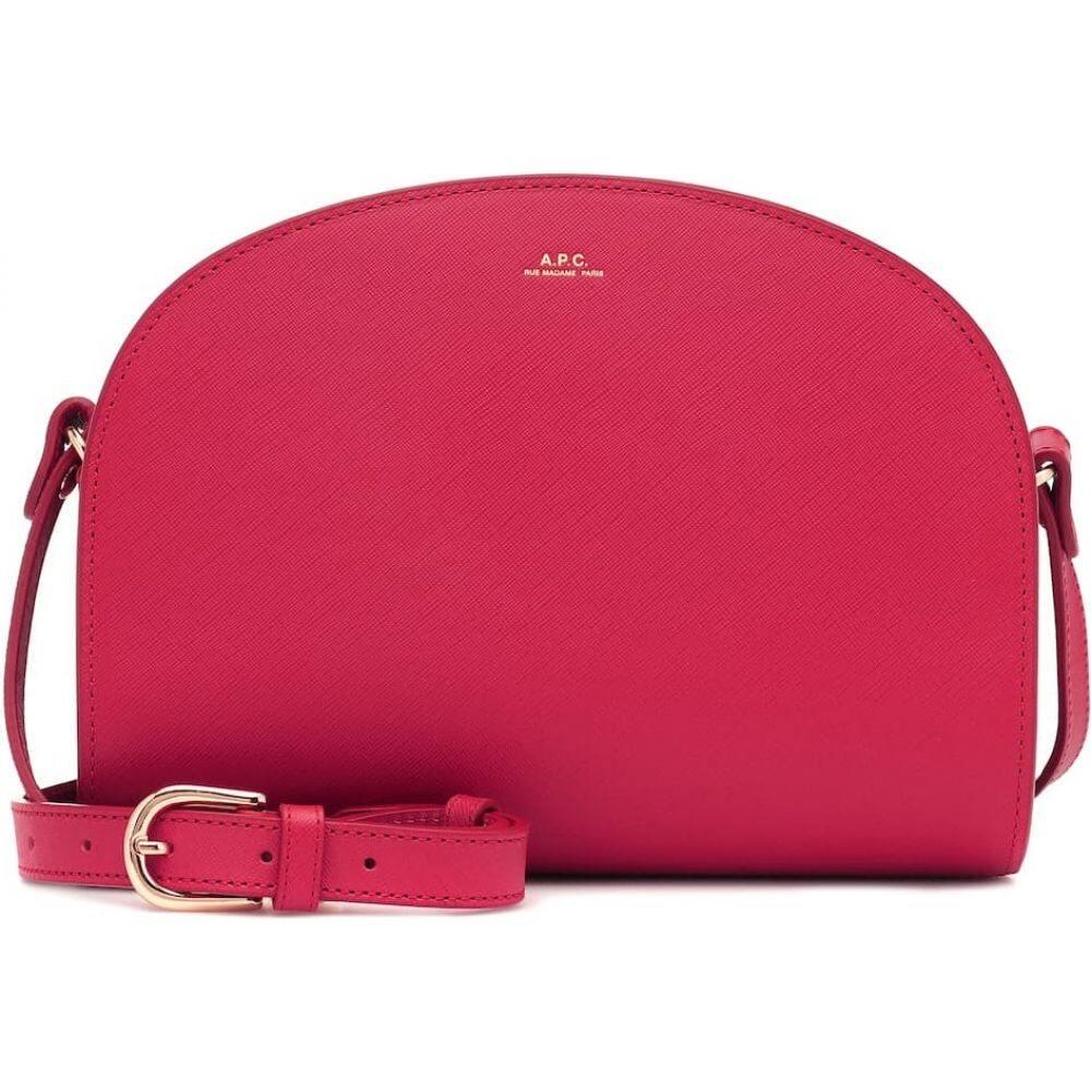 アーペーセー A.P.C. レディース ショルダーバッグ バッグ【demi-lune leather shoulder bag】Cerise