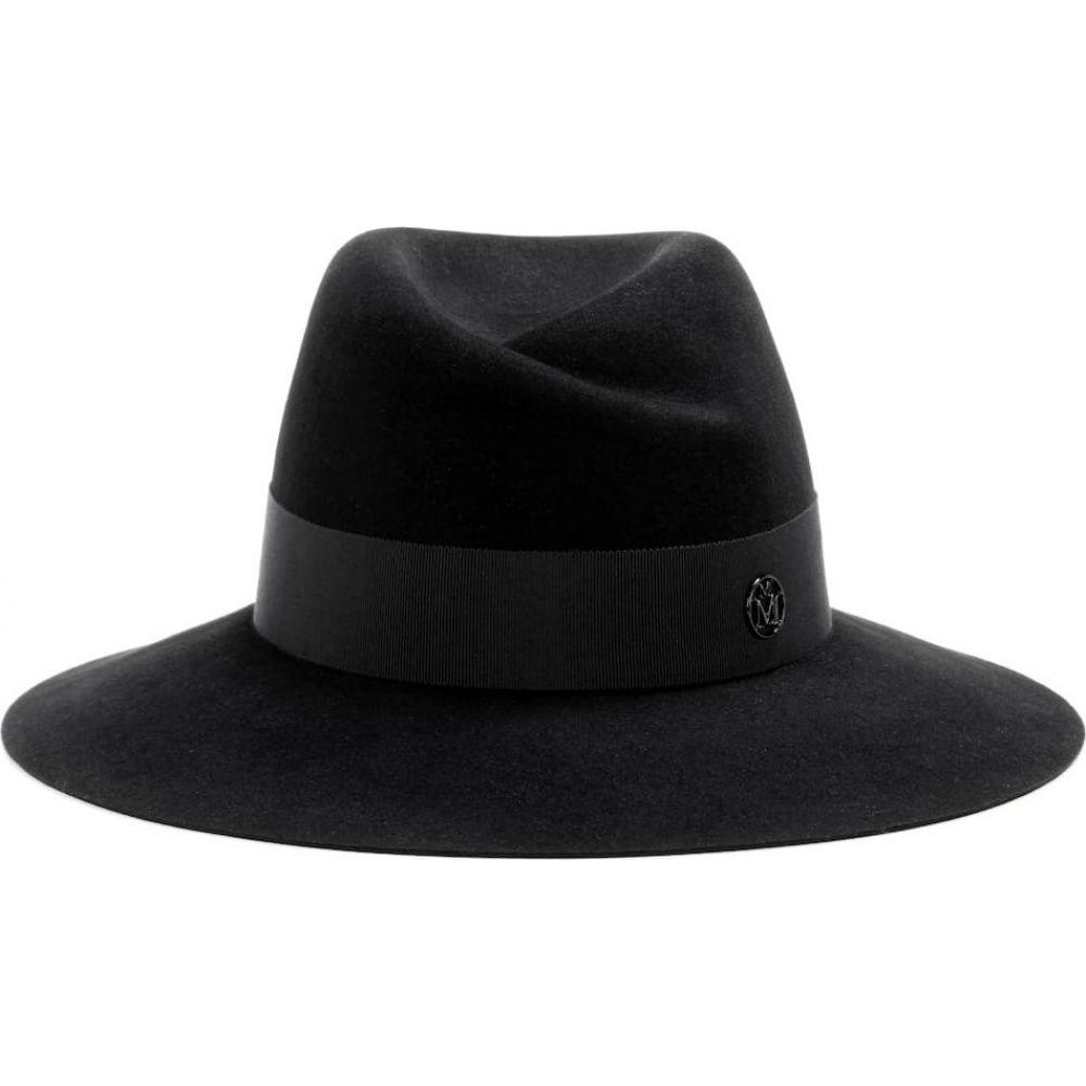メゾンミッシェル Maison Michel レディース ハット フェドラ 帽子【virginie felt fedora】Black Ribbon