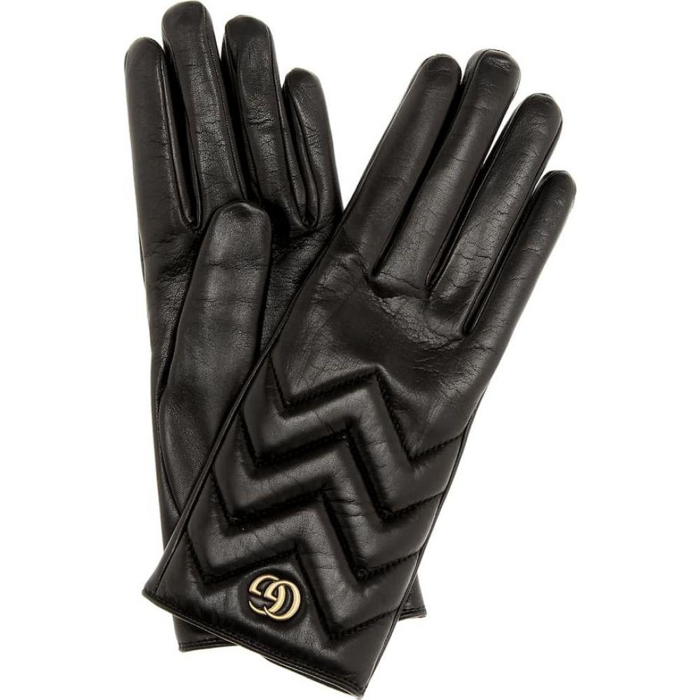 グッチ Gucci レディース 手袋・グローブ 【leather gloves】Nero