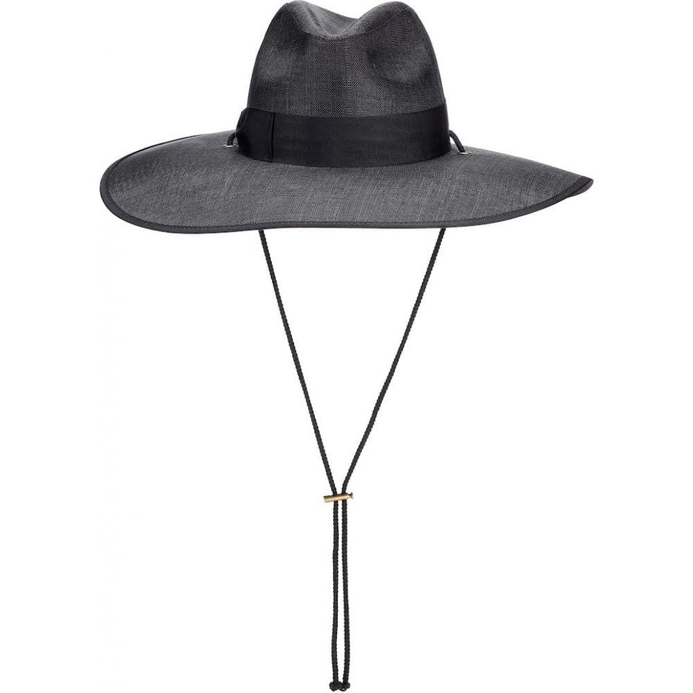グッチ Gucci レディース ハット 帽子【wide-brimmed hat】Black/Black