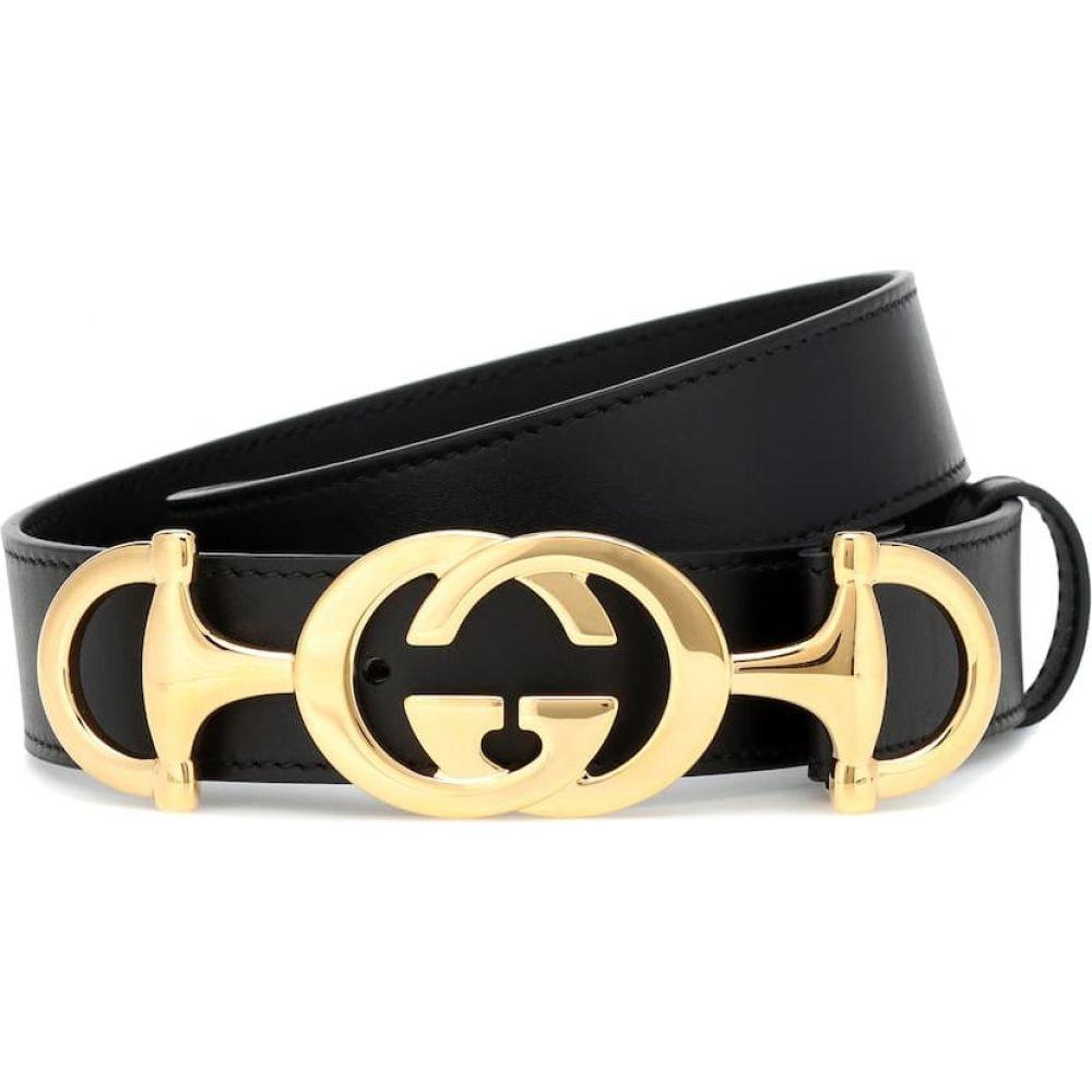 グッチ Gucci レディース ベルト 【gg horsebit leather belt】Nero